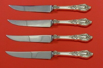 """Eloquence by Lunt Sterling Silver Steak Knife Set 4pc HHWS  Custom Made 8 1/2"""""""