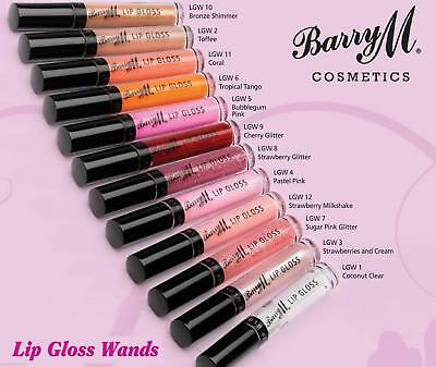 Barry M Cosmetics Lip Gloss Wand Collection Brand New - SELECT THE COLOUR SHADE