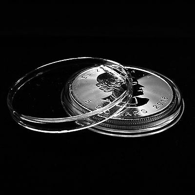 Coin Capsule Storage Box for 25 Ring Type Silver Dollar Airtites #12 xlg