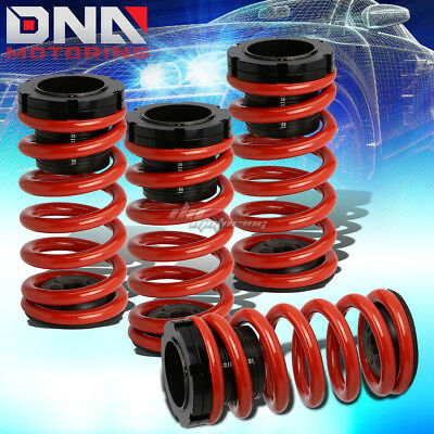 "For 03-08 Toyota Corolla E130 0-3""scaled Suspension Black Coilover Red Springs"