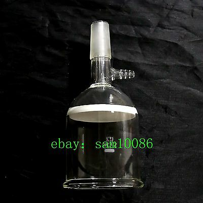 Glass Buchner Funnel,3# Coarse Filter with 10mm Vacuum Adapter 200ml 24/40,lab