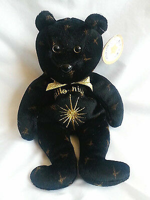 Celebrity Bear Plush Millenium 2000 Black Gold Starburst Fireworks Born A Star