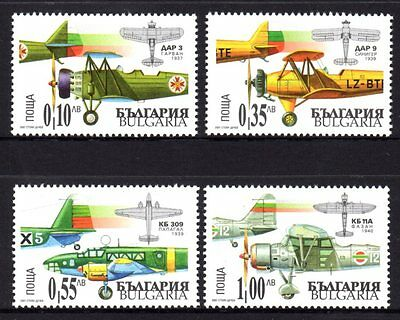 Bulgaria 2007 Aircraft Set 4 MNH