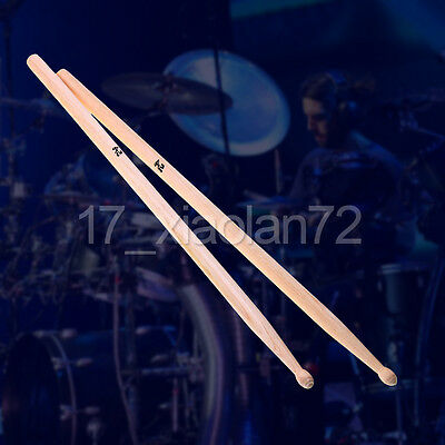 1 Pair High Quality Maple Wood Drum Sticks 5A Drumsticks Percussion Instrument