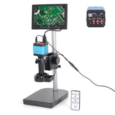 """14MP HDMI Industry Microscope Camera C-mount Lens 16GB TF Card 7"""" LCD Monitor"""