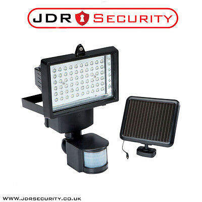 60 LED Solar Security Light Flood Light & Solar Panel with Fittings No Wiring