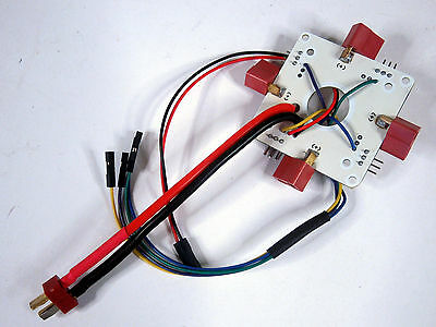 T-Plug Deans 4 Way Power Distribution Board PDB For Quadcopter APM2.5 2.6 2.8