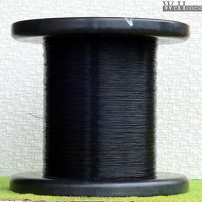 """1000m 0.011"""" Black 7/0.05 coated copper Ultra slim Wires Dia. 0.28 cable"""