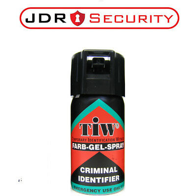 ORIGINAL TIW Farbgel UK  legal Self Defence Spray Security Criminal Identifier