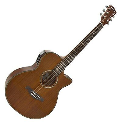 New Vintage Electro Acoustic Guitar w/t Built-In Goose-nec Mic Tuner Single Cut