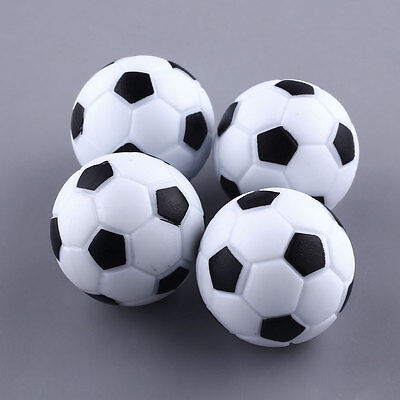 Fun Plastic 4pcs 32mm Soccer Table Foosball Ball Fussball Black+ White Football