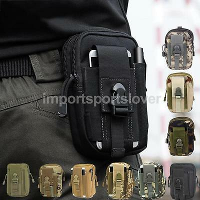 Tactical Waist Fanny Pack Bag Hiking Fishing Outdoor Sports Pouch Multi Pockects