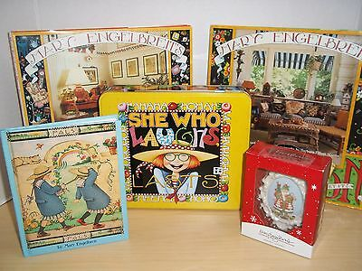 Lot of Mary Engelbreit Books - Pals, Home Companion, Outdoor, and Stationery Tin