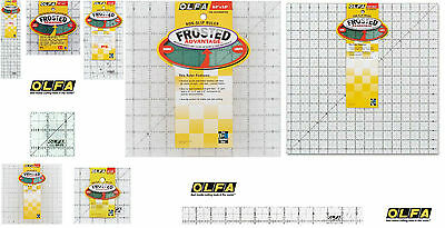 Olfa Ffrosted Quilting Patchwork Non Slip Rulers All Sizes Quilt Ruler -Olfa