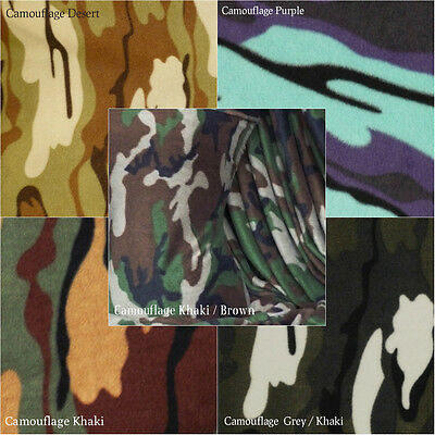 Polar Fleece Anti Pill Craft Premium Quality Soft Material Camouflage Prints
