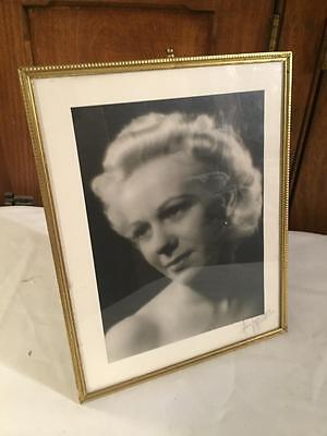 Brass Antique Vintage Easel Photo amos Signed Hollywood PICTURE FRAME wedding