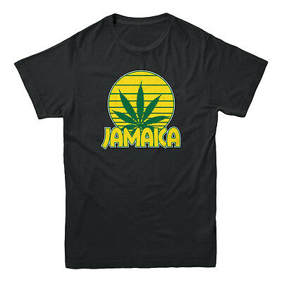 Jamaica Ganja Weed Kush Smoking Pot Legalize Marijuana Stoner Mens Black T-shirt