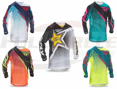 Fly Racing Kinetic Mesh Trifecta Jersey Motocross Off-Road Dirt Bike MX/ATV/MTB