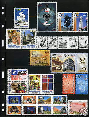 Chile 2009 complete year 46 MNH Stamps including 2 Sheetlets