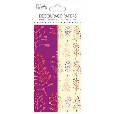 Simply Creative Bold Foliage Decoupage, Decopatch Papers SCDEC041