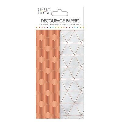 Simply Creative Copper Industrial Decoupage, Decopatch Papers SCDEC028