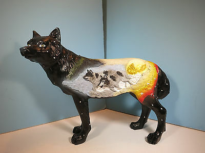 CALL OF THE WOLF-Cloud Catcher Wolf  Figurine-New In Box