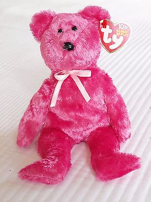 MWMT Ty Beanie Baby 2002 Sherbet The Pink Teddy Bear Retired Free Shipping