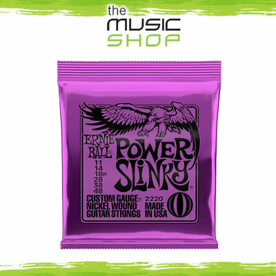 Set of Ernie Ball 2220 Power Slinky Electric Guitar Strings 11-48 Nickel Wound