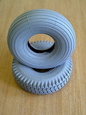 Set of NEW Puncture Proof Tyres 3.00-4 (260x85) 2 x  Ribbed  2 x  Blocked