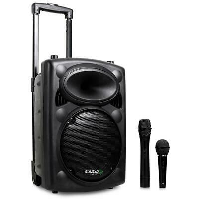 500W Aktiv mobile PA Box mit USB Bluetooth MP3 Player & Mikros für Karaoke Party