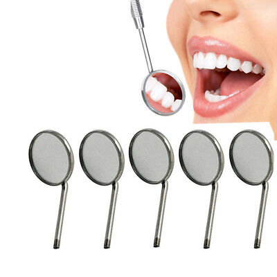 5 DENTAL MOUTH INSPECTION MIRROR + HANDLE Dentist Dentistry Tool Instrument