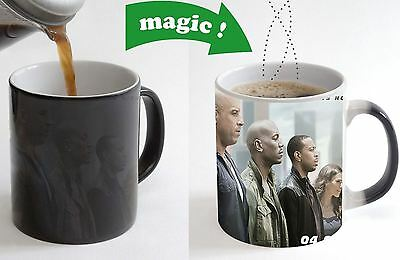 Fast and Furious 7 Movie Color Changing Magic Heat sensitive Cup Coffee Mug