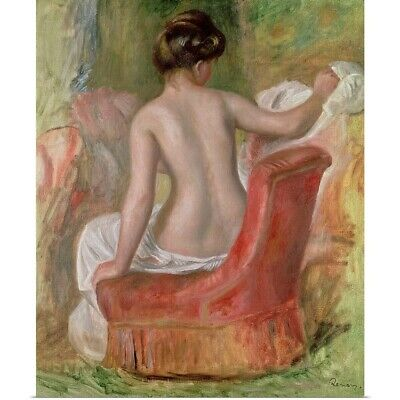 Poster Print Wall Art entitled Nude in an Armchair, 1900 (oil on canvas)