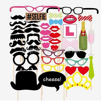 Funny Photo Booth Props Kits for Wedding Party Set of 43pcs