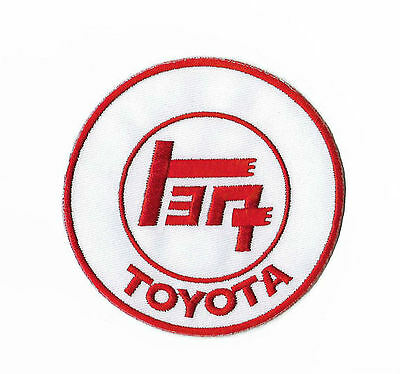 Toyota Patch White + Red Embroidered Badge Japanese Motor Racing Jacket Costume