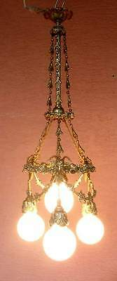 beautiful large historicism -ceiling chandelier 1880-1910