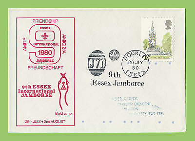 G.B. 1980 9th Essex International Scout Jamboree commemorative cover