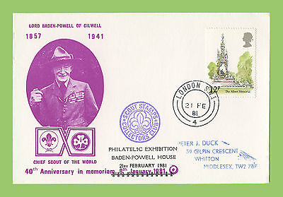 G.B. 1981 Lord Baden Powell 40th Anniversary, Exhibition cachet card