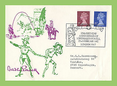 G.B. 1982 125th Anniv. of Baden Powell commemorative card