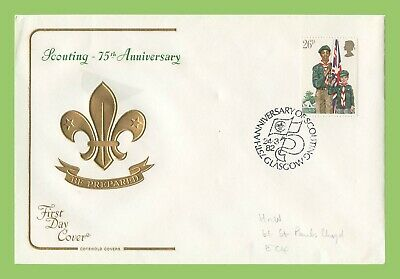 G.B. 1982 26p Scouts on Cotswold First Day Cover, Glasgow