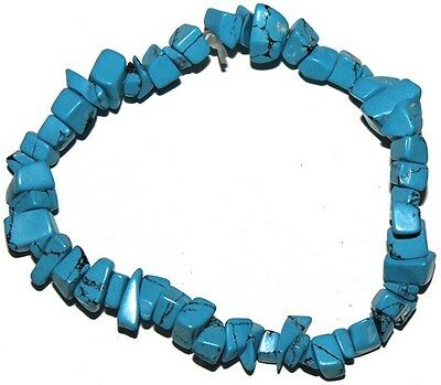 Tourquosite crystal chip healing bracelet - Free Postage