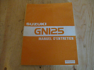 1983 Suzuki Gn 125  Factory Oem Manuel D'entretion  Free Ship U.s And Canada