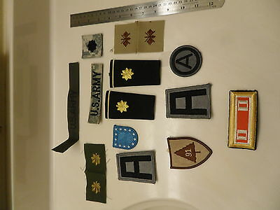 Lot of 13 U S army patches