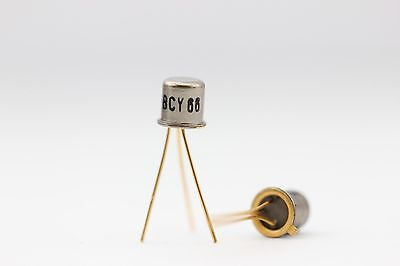 BCY66 GOLD TRANSISTOR NOS( New Old Stock ) 1PC. C458U3F100316