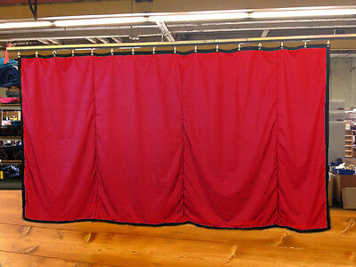 Red Curtain/Stage Backdrop/Partition, Non-FR, 8 H x 15 W