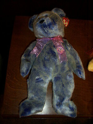 Retired Ty Beanie Buddy Periwinkle The E- Bear Mint With Tags
