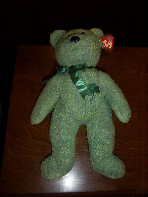 Retired Ty Beanie Buddy Clover The Bear Mint With Tags