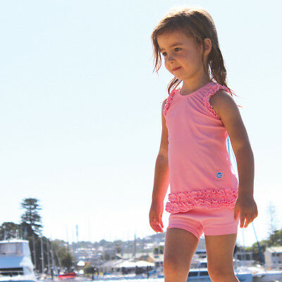 Splash About Girls Swimwear Nylon Lycra Frou Frou Swim Top