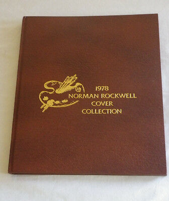 1978 Norman Rockwell Cover Collection Album Book Letters Stamps