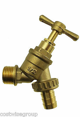 "solid brass garden bib tap,1//2/""bspm inlet and CLICK LOCK outlet for hose"